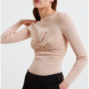 ZARA knit sweater with front knot